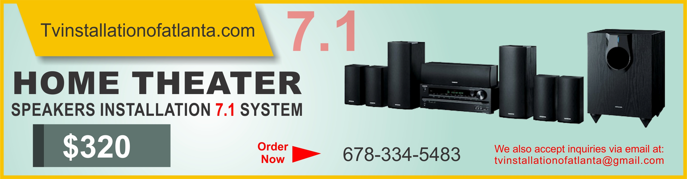 Home Theater Speakers Installation 7.1 System